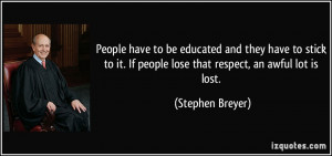 More Stephen Breyer Quotes