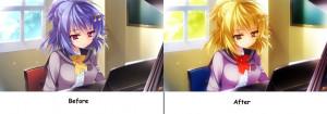 Anime Girl With Apple Edit