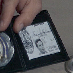 Columbo's LAPD ID card and badge with the name Frank Columbo in the ...