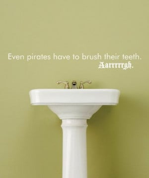Take a look at this White 'Brush Their Teeth' Wall Quote by Wallquotes ...