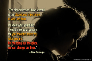 """Inspirational Quote: """"The biggest lesson I have learned is the ..."""