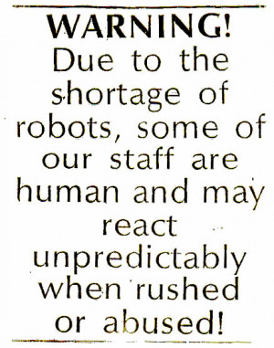 only office humor with a shortage of robot employees in this work ...
