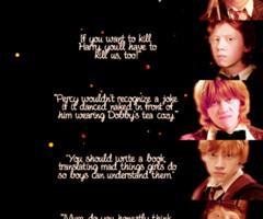 ... ron weasley quotes hermione granger romione ron x hermione half