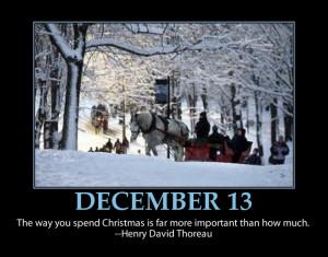 ... 13 ~ Christmas Advent Calendars Inspirational Quotes ~ Family