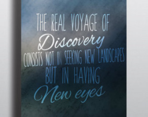 Printable Marcel Proust Quote//' ;Discovery'//Poster Decor ...