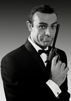 james bond sean connery black and white