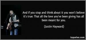 More Justin Hayward Quotes