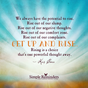 Get up and rise by Kris Carr