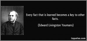 Edward Livingston Youmans Quote