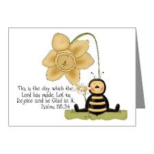 Bumble Bee with Bible Quote Note Cards (Pk of 20) for