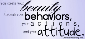 You create your beauty