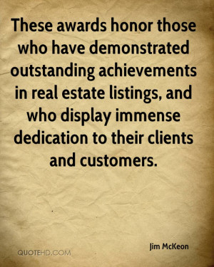 those who have demonstrated outstanding achievements in real estate ...