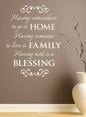 Home Family Both Blessing Wall Vinyl