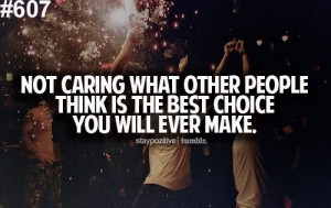 not caring is your best choice