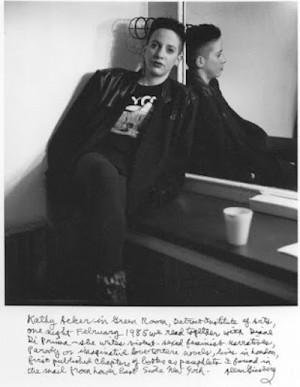 Kathy Acker Biography to Be Published in 2017 + Happy Birthday Allen ...