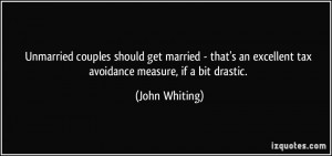 Unmarried couples should get married - that's an excellent tax ...