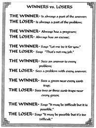 Losers make excuses…winners don't need one