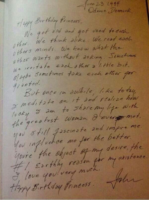 Johnny Cash's letter to June