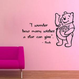 Wall Decals Nursery Winnie The Pooh Quotes Vinyl Sticker Kids Room ...