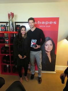 Aaron O'Connell with Reema Khan #ShapesEvents #Celebrities More