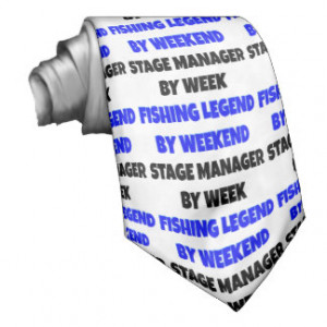 Fishing Legend Stage Manager Neckties