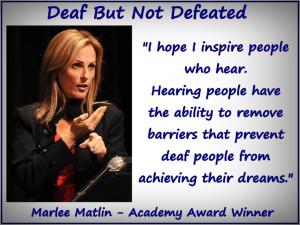 Marlee Matlin Academy Award