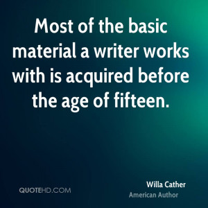 Willa Cather Age Quotes