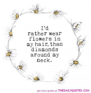 Hair Sayings Flowers in my hair