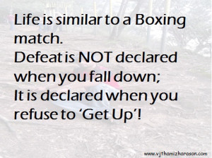 Boxing Quotes About Life Life boxing match