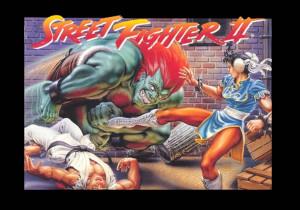Original Snes Capcom Us Street Fighter 2 Poster Tough Street Fight ...