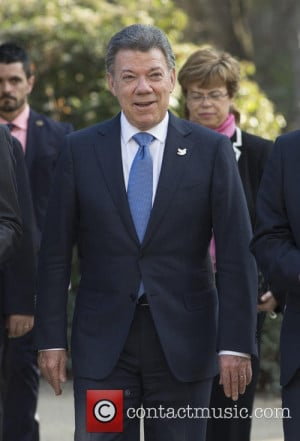 Juan Manuel Santos Colombia 39 s President Juan Manuel Santos arriving