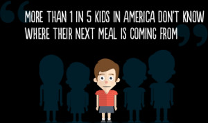 Child hunger is a big problem in America. And we have a big goal to ...