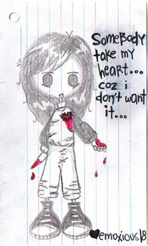 gun drawing emo girl quotes quotesgram
