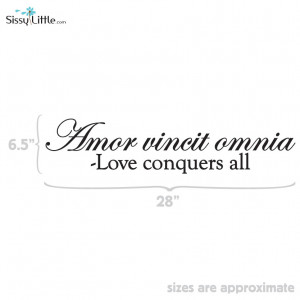 Love Conquers Quote-$35.99