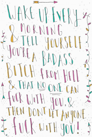 Kate Nash quote A4 print - Badass Bitch