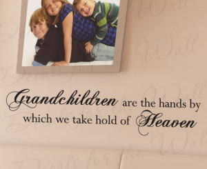 Wall Art Decal Sticker Quote Vinyl Letter Grandchildren Grandparents ...