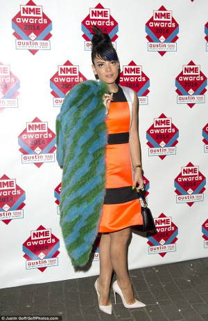 Lily Allen wears sixties shift dress to attend NME awards | Mail ...