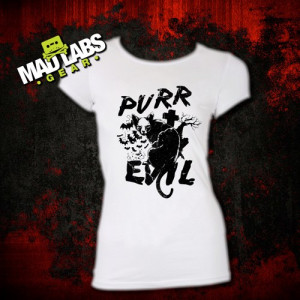 Purr Evil Cat t-shirt satanic shirt, goth, hipster, hail satan, quote ...