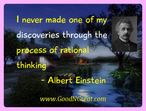 Albert Einstein Inspirational Quotes - I never made one of my ...