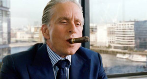 Gordon Gekko, played by Michael Douglas in the film Wall Street