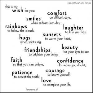 This Is My Wish For You ~ Friendship Quote