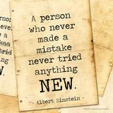 Never Made a Mistake - Albert Einstein Classic Quote Plakat autor ...