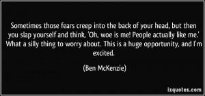 More Ben McKenzie Quotes