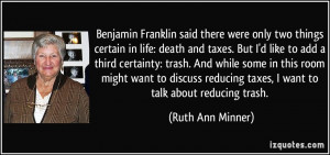Franklin Death And Taxes Quote