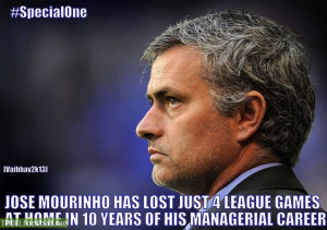 Jose Mourinho's home record ... !