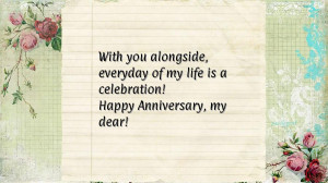 With you alongside, everyday of my life is a celebration! Happy ...