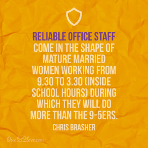 Reliable office staff come in the shape of mature married women ...