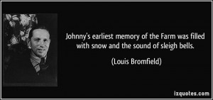 Johnny's earliest memory of the Farm was filled with snow and the ...