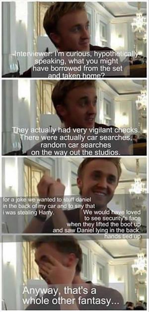 Tom Felton Is Hilarious