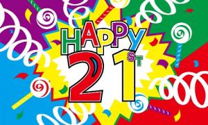 21st BIRTHDAY FLAG